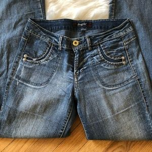 fragile Jeans - Fragile Bell Bottom Boho Jeans Size 30 Misses